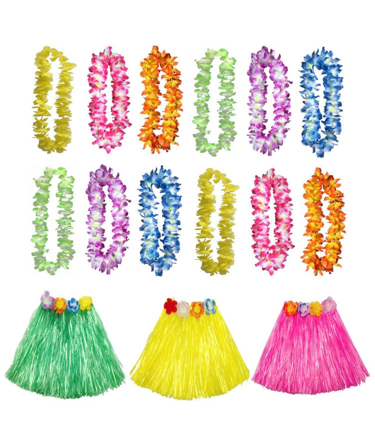 Hula skirt and Lei cosutme