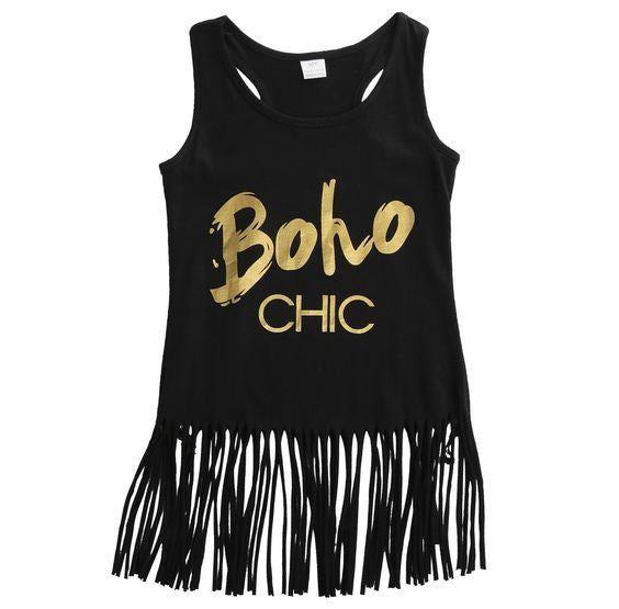 Boho fringe summer dress