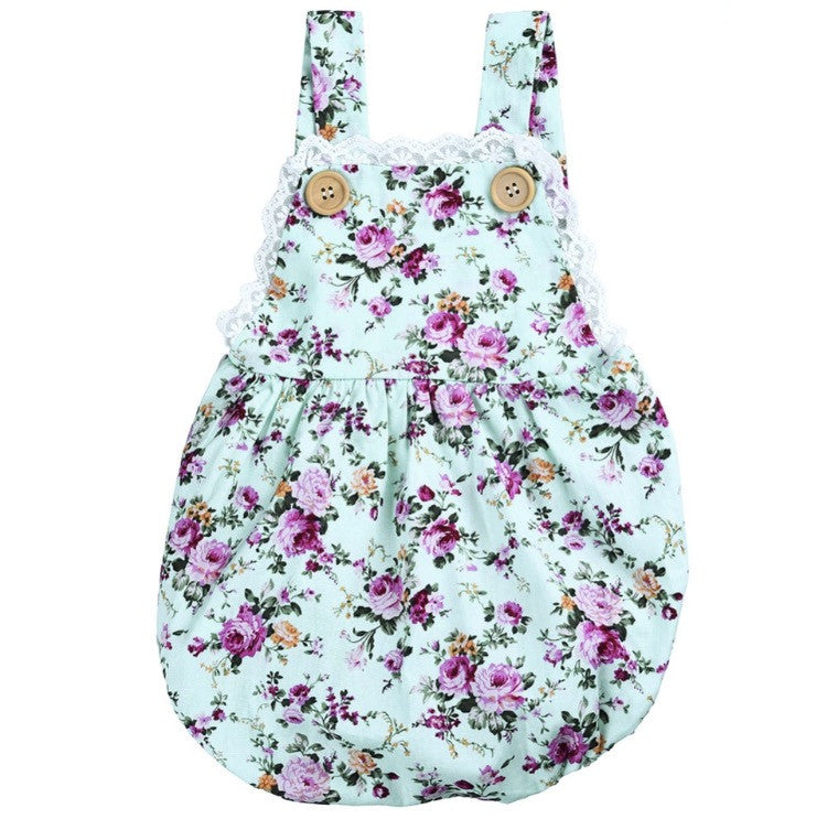 Overall Floral Romper