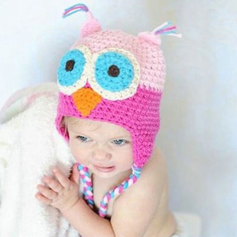 Knitted Owl Hat