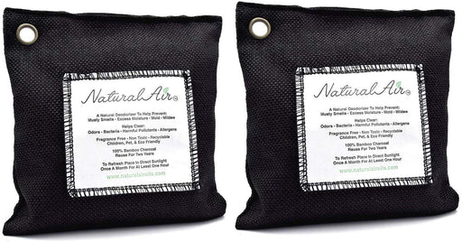 Natural Air™ - Bamboo Charcoal Air Purifying Bag Black, 200 gram (2 pk) - dollarscentclub