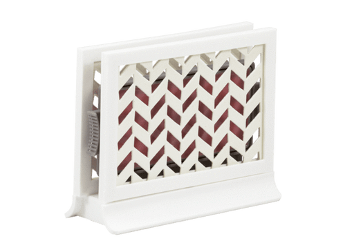 Décor Station - Chevron White / Wild Blooms - dollarscentclub