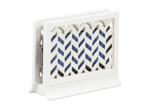 Décor Station - Chevron White / Fresh Linen
