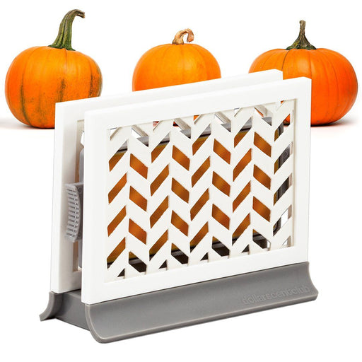 Décor Station - Chevron Gray / Pumpkin Spice - dollarscentclub