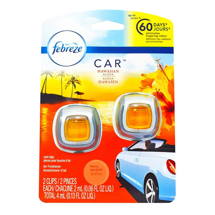Febreze® Car Hawaiian Aloha (2 pack) - dollarscentclub