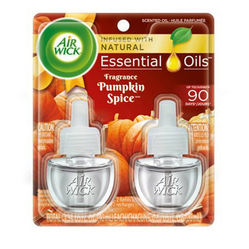 Air Wick Scented Oil 2 Refills, Pumpkin Spice