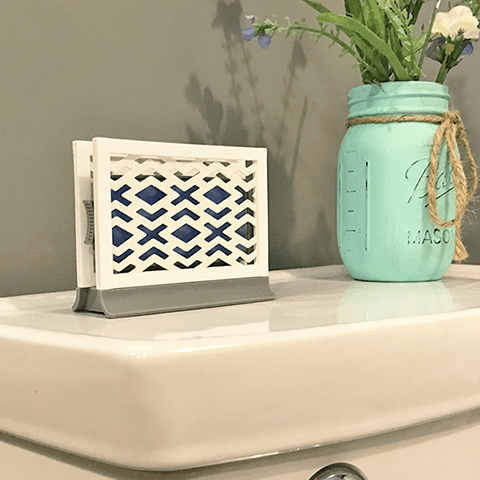 Décor Station - Chevron White / Pine - dollarscentclub