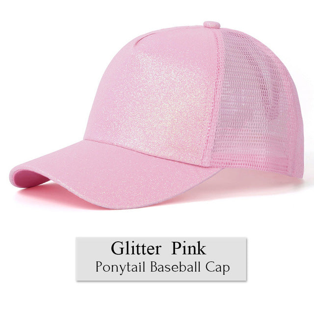 Sequin Ponytail Baseball Cap - inspirexpress.com
