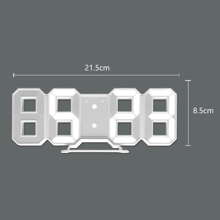 3D Digital Clock Clock GEEKS1024
