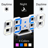 3D Digital Clock Clock GEEKS1024 Blue