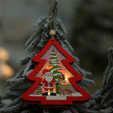 Load image into Gallery viewer, LED Light Christmas Wooden Pendants Ornaments