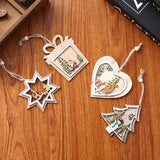 Load image into Gallery viewer, Christmas Laser Hollow Christmas Tree Pendant