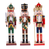 Load image into Gallery viewer, Wooden Nutcracker Figurine Christmas Decoration Dolls