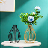 Load image into Gallery viewer, Metal Hydroponic Vase