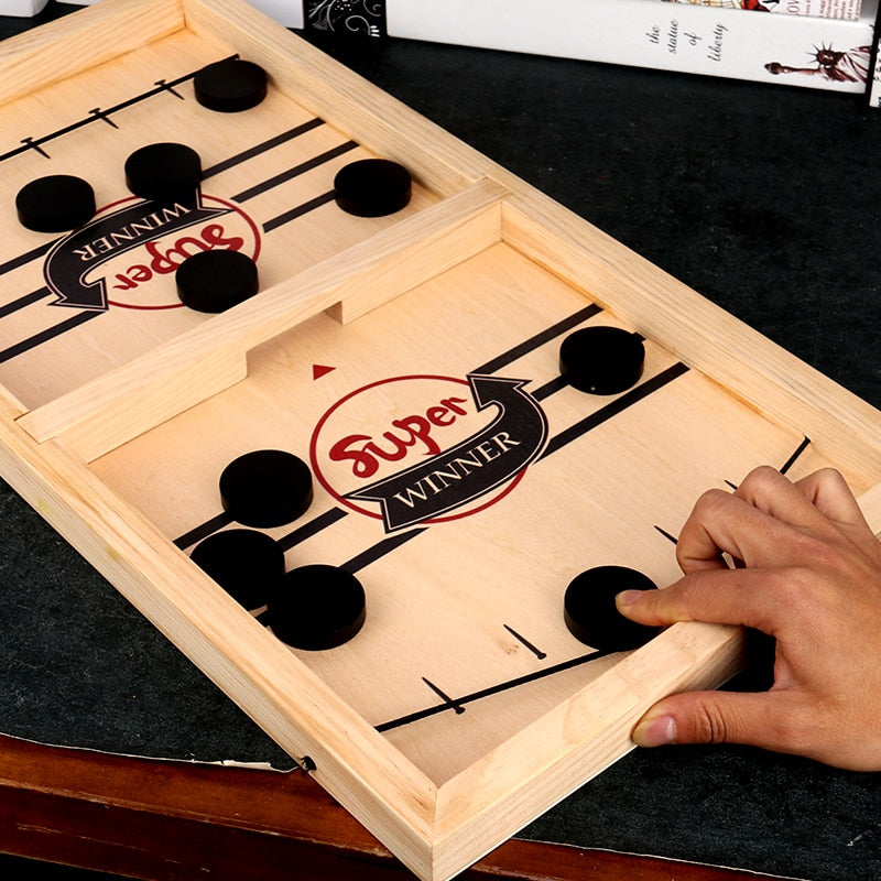 Wooden Sling Hockey Board Game