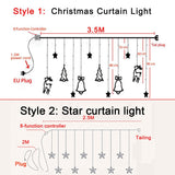 Load image into Gallery viewer, Christmas Curtain light