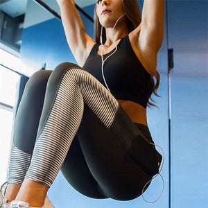 Pocket Patchwork Fitness Legging - inspirexpress.com