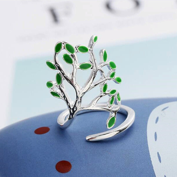 Olive Tree Silver Ring - inspirexpress.com