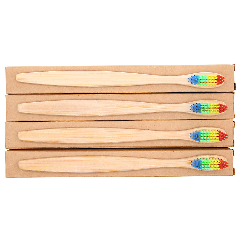 Eco-friendly Colorful Bamboo Toothbrush - inspirexpress.com