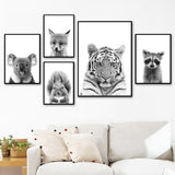 Load image into Gallery viewer, Black And White Canvas Painting Wall Posters