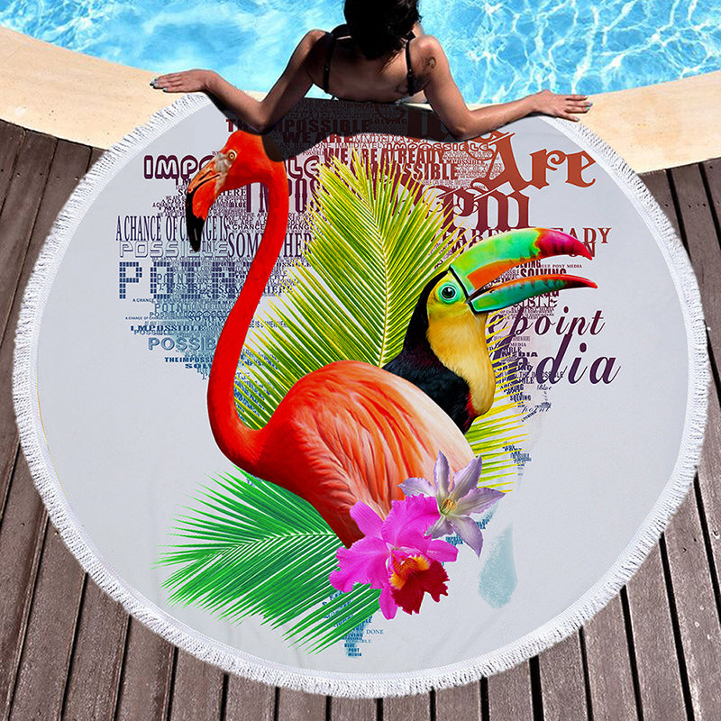Tropical Leaves Beach Towel - inspirexpress.com