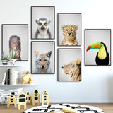 Load image into Gallery viewer, Animal Prints Wall Art Canvas Painting