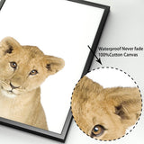 Load image into Gallery viewer, Cub Animals Wall Art Canvas Painting