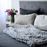 Load image into Gallery viewer, Chunky Knit Throw Blanket - inspirexpress.com
