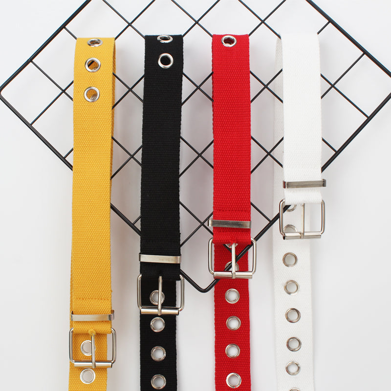 Metal Hole Canvas Belt - inspirexpress.com