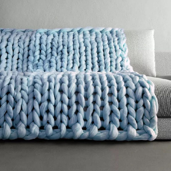 Chunky Knit Throw Blanket - inspirexpress.com