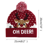 Load image into Gallery viewer, Cute LED Christmas Knitted Beanie Hat