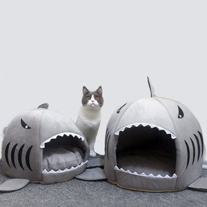 Cat Mat Shark Shape House