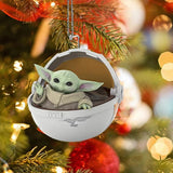 Load image into Gallery viewer, Christmas Tree Yoda Ornaments