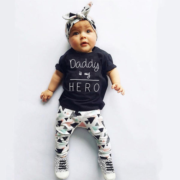 Daddy is My Hero Toddler Set