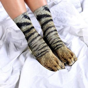Animal Paws Socks Socks InspirExpress Cat 1