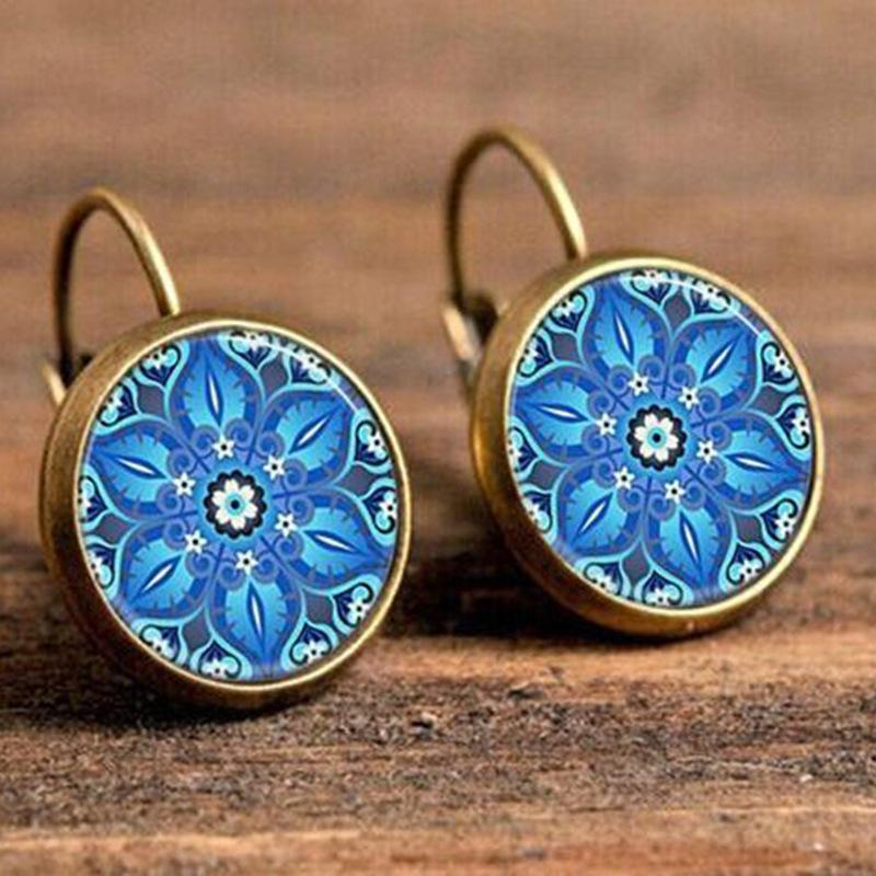 Antique Bohemian Earring Earring InspirExpress Blue Flower