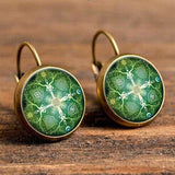 Antique Bohemian Earring Earring InspirExpress Green Flower