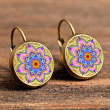 Antique Bohemian Earring Earring InspirExpress Pink Flower