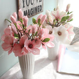 Artificial Flowers Orchid Magnolia Artificial Flowers InspirExpress Pink