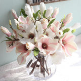 Artificial Flowers Orchid Magnolia Artificial Flowers InspirExpress White