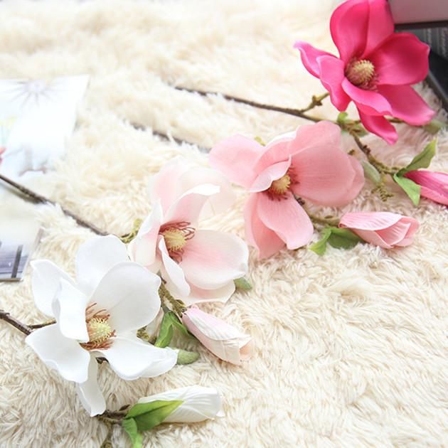 Artificial Flowers Orchid Magnolia Artificial Flowers InspirExpress White/Pink