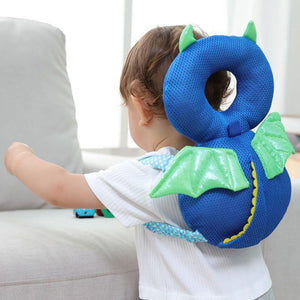 Baby Headrest Protection Pillow Pillow InspirExpress Little Blue Devil