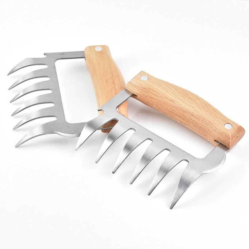 Bear Claw Meat Forks Forks InspirExpress Light Wood