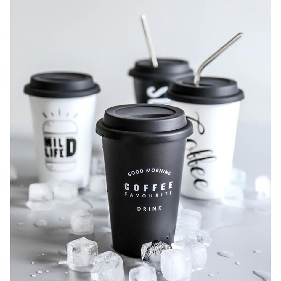 Black White Cofee Cup Cup InspirExpress