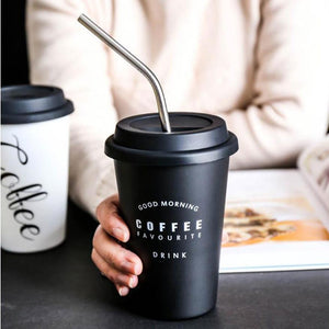 Black White Cofee Cup Cup InspirExpress Black Coffee