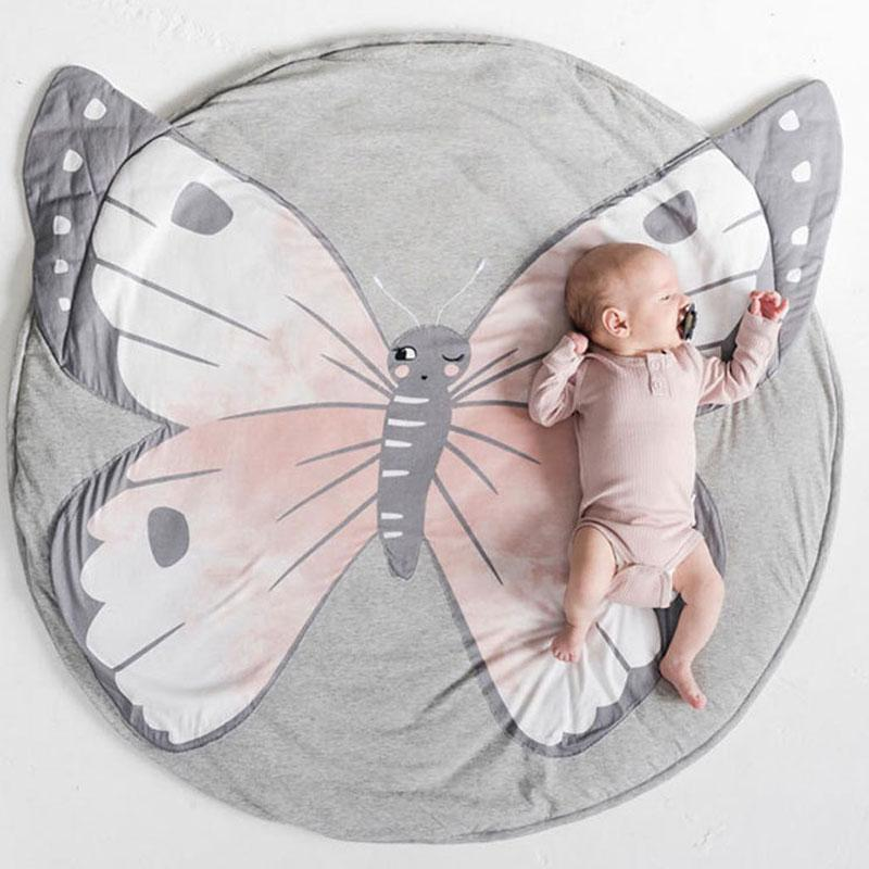 Cartoon Animals Crawling Mat Mat InspirExpress Butterflies