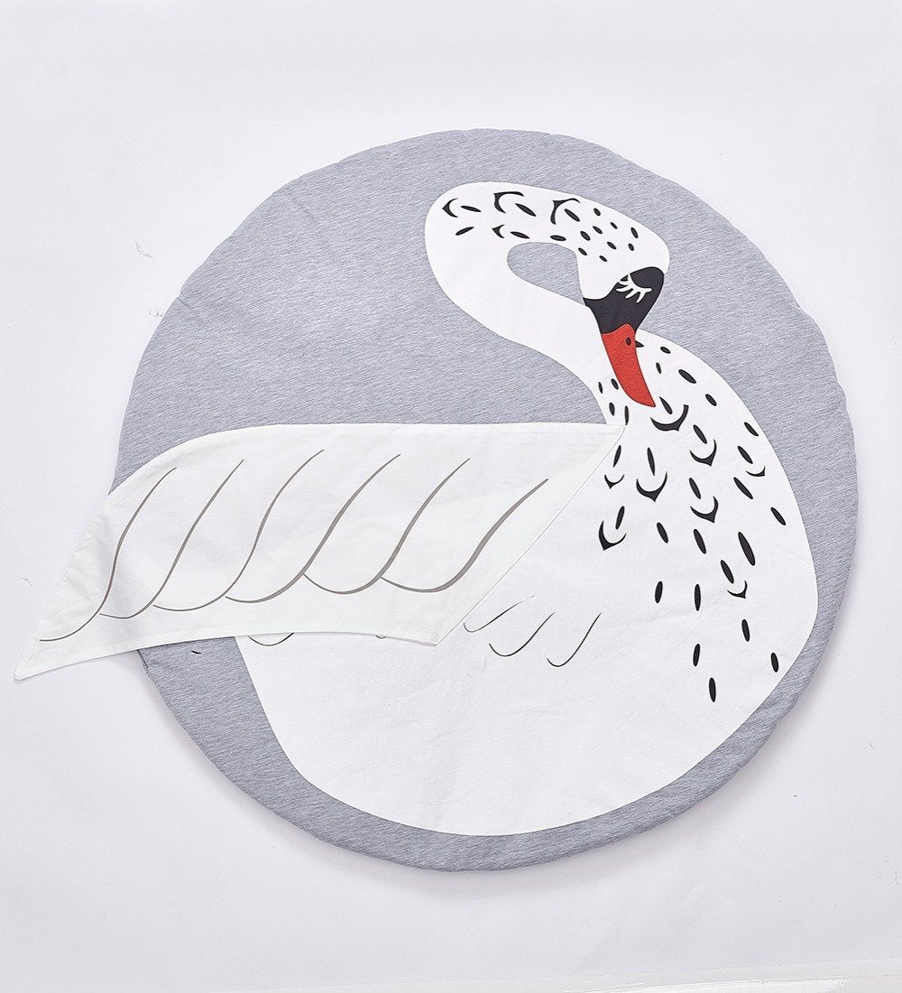 Cartoon Animals Crawling Mat Mat InspirExpress Swan