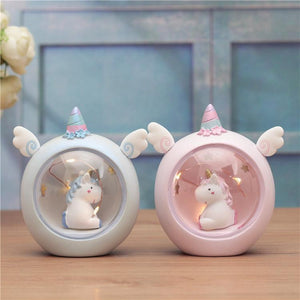 Children Bedside Unicorn Lamp Lamp InspirExpress Pink