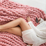 Load image into Gallery viewer, Chunky Knit Throw Blanket Blanket InspirExpress 40x47 Inches Pink