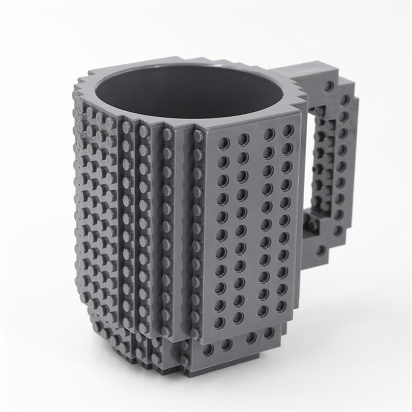 Creative Build-on Brick Mug Mug GEEKS1024 Gray